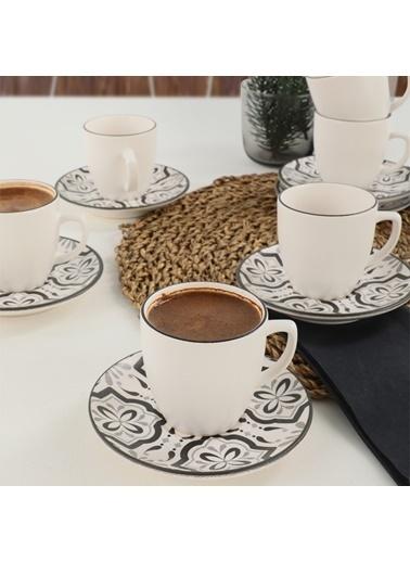 Keramika Keramika Reflect Kahve Takımı 12 Parça 6 Kişilik - 19304 Renkli